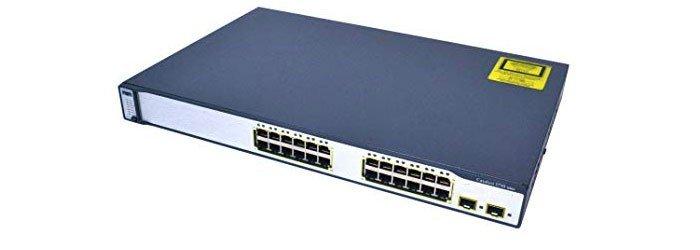 سوئیچ شبکه سیسکو 24 پورت WS-C3750-24TS-S