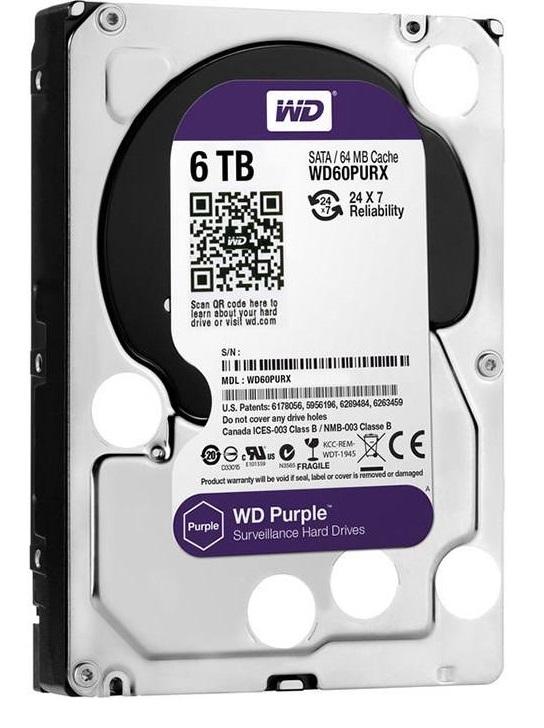 هارد دیسک وسترن دیجیتال بنفش 6TB Purple 3.5