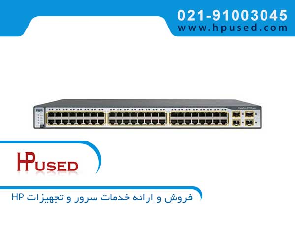 سوئیچ شبکه سیسکو 48 پورت WS-C3750-48TS-S